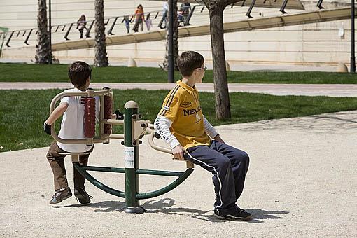 Parque de Cabecera y juegos infantiles. VALENCIA. España