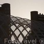 Detalle del Umbracle. Arquitecto Santiago Calatrava. Ciudad de las Artes y las Ciencias. VALENCIA. España
