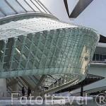 Detalle del edificio L´Hemisferic. Arquitecto Santiago Calatrava. Ciudad de las Artes y las Ciencias. VALENCIA. España
