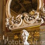 Detalle de un busto de mujer. Casa de Castellarnau, S.XV.TARRAGONA. Ciudad Patrimonio de la UNESCO. España