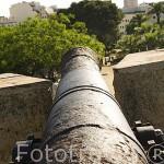 Cañon en lo alto. Paseo arqueologico y murallas romanas, s.III - II a.C. TARRAGONA. Ciudad Patrimonio de la UNESCO. España