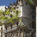 Fachada de la Casa Salas, s.XIX. Arquitecto Jose Maria Salas. En Rambla Vella. TARRAGONA. Ciudad Patrimonio de la UNESCO. España