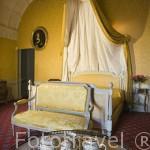 Habitación del Principe de Tarento. Castillo palacio de Serrant. Cerca de ANCENIS. Región de Pays de Loire. Francia. France