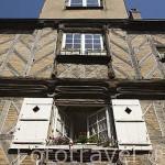 Fachada de antigua casa. Calle Saint Aignan. Ciudad de ANGERS. Región Pays de la Loire. FRANCIA. France