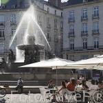 Plaza Royale y terrazas. Ciudad de NANTES. Región Pays de la Loire. FRANCIA. France