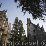 La catedral Sainte Pierre y edificio. Ciudad de NANTES. Región Pays de la Loire. FRANCIA. France