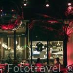 """Cafe bar de copas """"IDN"""". En el hangar de bananas. Ciudad de NANTES. Región Pays de la Loire. FRANCIA. France"""