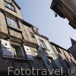Fachadas de antiguas casas. Calle Saint Aignan. Ciudad de ANGERS. Región Pays de la Loire. FRANCIA. France