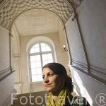 Escalera renacentista. Castillo palacio de Serrant. Cerca de ANCENIS. Región de Pays de Loire. Francia. France