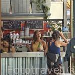 Terraza del Cafe de la Branche. Ciudad de NANTES. Región Pays de la Loire. FRANCIA. France