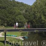 Rio Vallee du Hâvre. Pueblo de OUDON. Valle del Loira. Francia - France