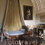 Habitación de la Princesa de Tarento. Castillo palacio de Serrant. Cerca de ANCENIS. Región de Pays de Loire. Francia. France