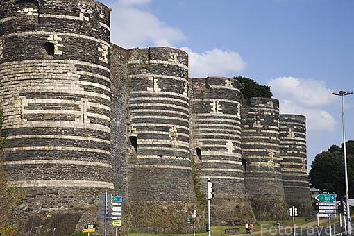Castillo del s.XIII. Residencia de los duques de Anjou en el s.XIV- XV. Ciudad de ANGERS. Región de Pays de Loire. Francia. France