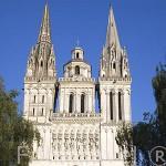 Fachada. Catedral de Saint Maurice. Ciudad de ANGERS. Región de Pays de Loire. Francia. France