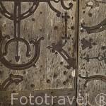Detalle de la puerta. Catedral de Saint Maurice. Ciudad de ANGERS. Región de Pays de Loire. Francia. France