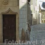 Fachadas de antiguas casas del s.XV. Calle Saint Aignan. Ciudad de ANGERS. Región Pays de la Loire. FRANCIA. France