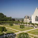Jardines del castillo del s.XIII. Residencia de los duques de Anjou en el s.XIV- XV. Ciudad de ANGERS. Región de Pays de Loire. Francia. France