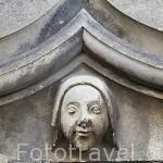 Detalle en una puerta. Castillo del s.XIII. Residencia de los duques de Anjou en el s.XIV- XV. Ciudad de ANGERS. Región de Pays de Loire. Francia. France
