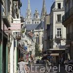 Calle. ANGERS, Pays de la Loire. Francia. Francia.