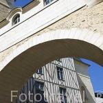 Calle Rue du Musee. Ciudad de ANGERS. Región Pays de la Loire. FRANCIA. France