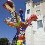 """Escultura en el """"Jardins des Beaux Arts"""". Ciudad de ANGERS. Región Pays de la Loire. FRANCIA. France"""