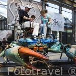 """Maquina El Cangrejo. Taller de """"Les Machines d´Ile"""". Ciudad de NANTES. Región Pays de la Loire. FRANCIA. France"""