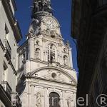 Torre de la iglesia Sainte Croix. Ciudad de NANTES. Región Pays de la Loire. FRANCIA. France