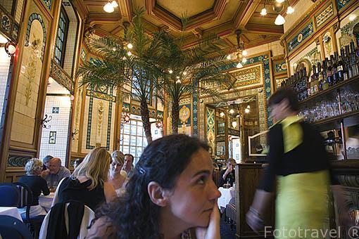 Restaurante La Cigale. Ciudad de NANTES. Región Pays de la Loire. FRANCIA. France