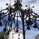 Un pozo en el interior del castillo de los Duques de Bretaña. Finales s.XV. Ciudad de NANTES. Región Pays de la Loire. FRANCIA. France
