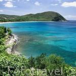 Mirador sobre la playa de Grande Anse. DESHAIES. Basse Terre. Isla de Guadalupe. Caribe. Francia