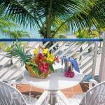 Terraza del hotel Le Meridien Cocoteraie. En SAINT FRANCOIS. Grande Terre. Isla de Guadalupe. Caribe. Francia