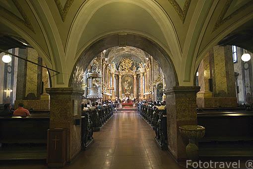 Interior y boda. Catedral de la ciudad de GYOR. Comarca del Transdanubio. Hungria