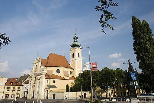 Iglesia de las Carmelitas. Ciudad de GYOR. Comarca del Transdanubio. Hungria