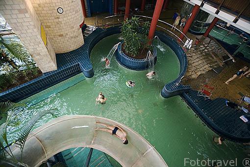 Interior del balneario Quelle. Ciudad de GYOR. Comarca del Transdanubio. Hungria