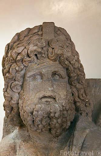 Busto. Museo de las ruinas de PETRA. Patrimonio de la Humanidad, UNESCO. Jordania