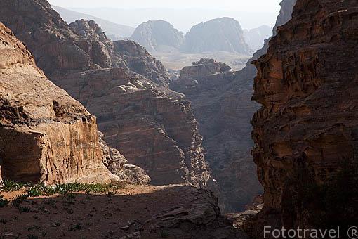 Paisaje. Montañas de PETRA. Jordania