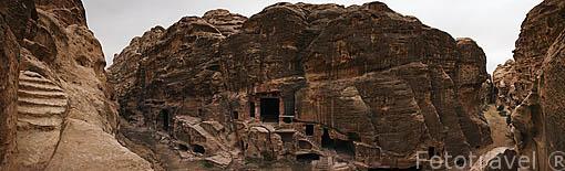 """Ciudad de la """"Pequeña Petra"""" situada cerca de Petra, se cree que era la ciudad comercial. Patrimonio de la UNESCO. Jordania"""