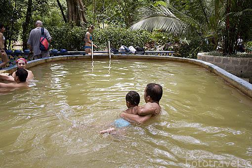 Zona de las Aguas Termales, en el cerro Cariguana.Valle de Anton. PANAMA. Centroamerica