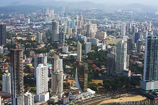 Vista aerea de la ciudad de PANAMA. Centroamerica