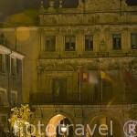 Ayuntamiento de estilo barroco, 1762. Sobre 3 arcos de medio punto. CUENCA. Ciudad Patrimonio de la Humanidad. Castilla La Mancha. España