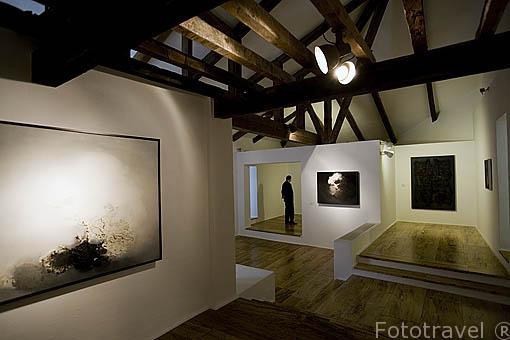 Interior del Museo de Arte Abstracto. CUENCA. Ciudad Patrimonio de la Humanidad. Castilla La Mancha. España