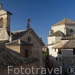 Torre del convento de las Carmelitas a la izquierda y torre de la iglesia de San Pedro. CUENCA. Ciudad Patrimonio de la Humanidad. Castilla La Mancha. España