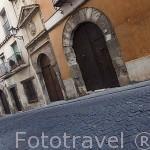 Calle de San Pedro, atraviesa la parte alta del casco historico. CUENCA. Ciudad Patrimonio de la Humanidad. Castilla La Mancha. España
