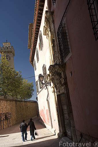 Calle y torre Mangana. CUENCA. Ciudad Patrimonio de la Humanidad. Castilla La Mancha. España