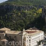 Edificio del Parador Nacional de Cuenca junto a la hoz del Huecar. CUENCA. Ciudad Patrimonio de la Humanidad. Castilla La Mancha. España