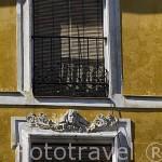 Detalle de la fachada de un edificio. CUENCA. Ciudad Patrimonio de la Humanidad. Castilla La Mancha. España