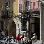 Bares bajo el edificio del Ayuntamiento. CUENCA. Ciudad Patrimonio de la Humanidad. Castilla La Mancha. España