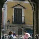 Un pasadizo junto al edificio del Ayuntamiento. CUENCA. Ciudad Patrimonio de la Humanidad. Castilla La Mancha. España