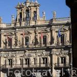 La plaza Mayor, de estilo barroco. S.XVIII. SALAMANCA. Ciudad Patrimonio de la Humanidad, UNESCO. Castilla y León. España