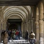 Soportales en la plaza Mayor, de estilo barroco. S.XVIII. SALAMANCA. Ciudad Patrimonio de la Humanidad, UNESCO. Castilla y León. España